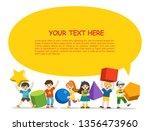 back to school. children with... | Shutterstock .eps vector #1356473960