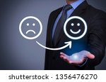 unhappy and happy faces on... | Shutterstock . vector #1356476270