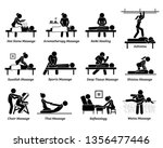 type of massages and therapies. ... | Shutterstock .eps vector #1356477446