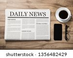 newspaper with the headline... | Shutterstock . vector #1356482429