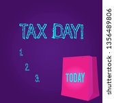 word writing text tax day.... | Shutterstock . vector #1356489806