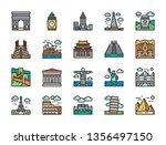 set of travel locations... | Shutterstock .eps vector #1356497150