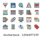 set of seo and marketing flat... | Shutterstock .eps vector #1356497159