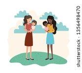 women with children avatar... | Shutterstock .eps vector #1356498470
