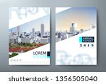 annual report brochure flyer... | Shutterstock .eps vector #1356505040