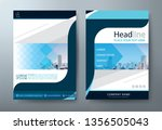 annual report brochure flyer... | Shutterstock .eps vector #1356505043