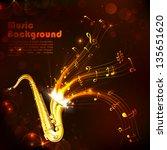 illustration of wavy music tune ... | Shutterstock .eps vector #135651620