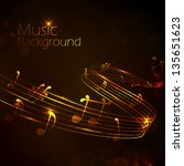 illustration of abstract music... | Shutterstock .eps vector #135651623