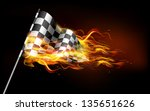 illustration of fire flame in... | Shutterstock .eps vector #135651626