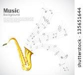 illustration of wavy music tune ... | Shutterstock .eps vector #135651644