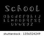 font logo. modern design vector ... | Shutterstock .eps vector #1356524249
