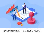 signing a contract  two... | Shutterstock .eps vector #1356527693