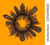 round urban cityscape panorama... | Shutterstock .eps vector #1356558833