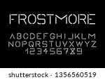 trendy font. minimalistic style ... | Shutterstock .eps vector #1356560519