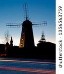 Silhouette Of Heritage Windmil...