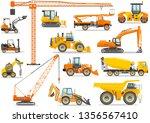 set of detailed heavy... | Shutterstock .eps vector #1356567410