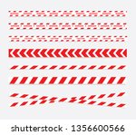 caution and danger tapes.... | Shutterstock .eps vector #1356600566