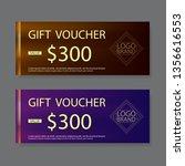 gift voucher template  vector | Shutterstock .eps vector #1356616553