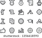 bold stroke vector icon set  ... | Shutterstock .eps vector #1356618593