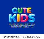 Vector Bright Emblem Cute Kids...