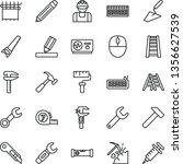 thin line vector icon set  ... | Shutterstock .eps vector #1356627539