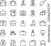 thin line vector icon set  ... | Shutterstock .eps vector #1356629129