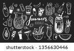 vector hand drawn set of cold... | Shutterstock .eps vector #1356630446