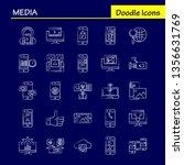 media hand drawn icon for web ...