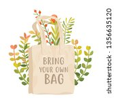 bring your own bag vector... | Shutterstock .eps vector #1356635120