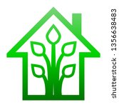 eco house   green home icon  ... | Shutterstock .eps vector #1356638483