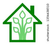 eco house   green home icon  ... | Shutterstock .eps vector #1356638510