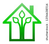eco house   green home icon  ... | Shutterstock .eps vector #1356638516