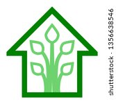 eco house   green home icon  ... | Shutterstock .eps vector #1356638546