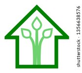eco house   green home icon  ... | Shutterstock .eps vector #1356638576