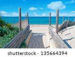 Walkpath To The Beach Made Wit...