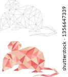 year of the rat. polygonal... | Shutterstock .eps vector #1356647339