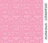 lingerie seamless pattern with... | Shutterstock .eps vector #1356649160