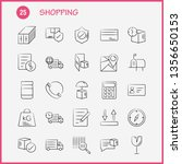shopping hand drawn icon for...