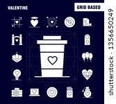 valentine solid glyph icons set ...