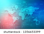 cyber security and information... | Shutterstock . vector #1356653399