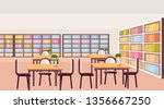 modern library study area...   Shutterstock .eps vector #1356667250