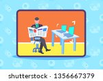 male security guard worker... | Shutterstock .eps vector #1356667379