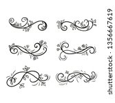 set of curls and scrolls for... | Shutterstock .eps vector #1356667619
