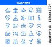 valentine line icon pack for...   Shutterstock .eps vector #1356668729