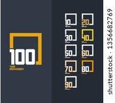 100 year anniversary set 10 20...   Shutterstock .eps vector #1356682769