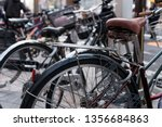 row of bicycle japan style... | Shutterstock . vector #1356684863
