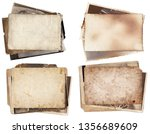 set of various retro old photos ... | Shutterstock . vector #1356689609