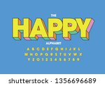 vector of stylized modern font... | Shutterstock .eps vector #1356696689
