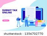 online tax payment concept....