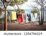 Camp Washing Hung On A...